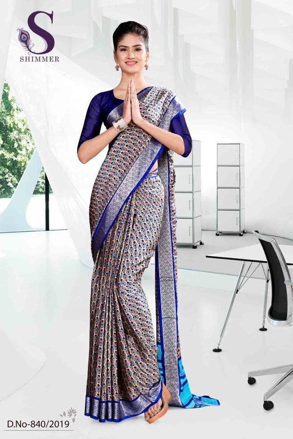 grey-and-blue-school-shimmer-uniform-sarees-840