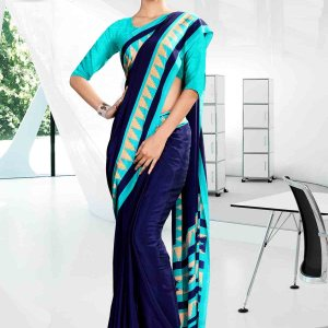 light-blue-and-blue-corporate-uniform-saree-846