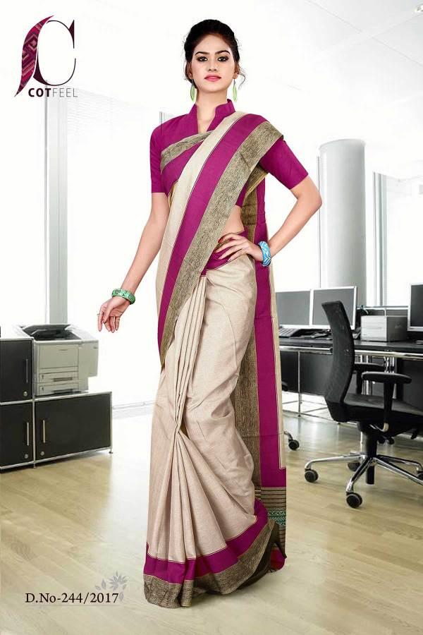magenta-beige-tripura-cotton-uniform-saree-244-17