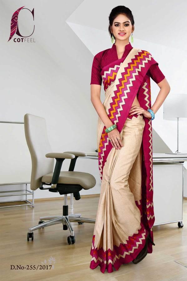 magenta-cream-tripura-cotton-uniform-saree-255-17
