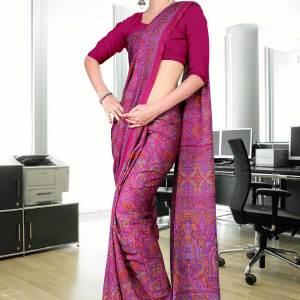 magenta-italian-crepe-uniform-saree-07