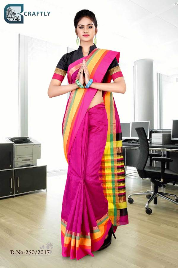 magenta-yellow-uniform-saree-250