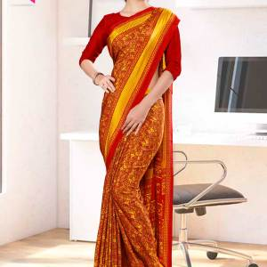 maroon-yellow-paisley-print-premium-italian-silk-crepe-uniform-sarees-for-institutions-1104-21