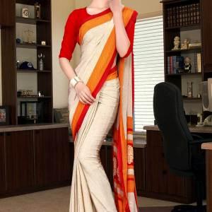 off-white-and-red-italian-crepe-silk-staff-uniform-saree-486-19