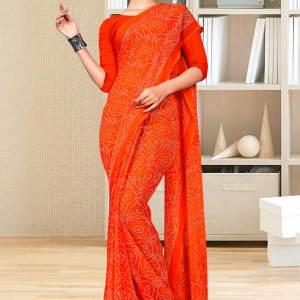 orange-premium-georgette-bandhej-print-religious-ocassions-sarees-for-rajasthani-bandhani-1642