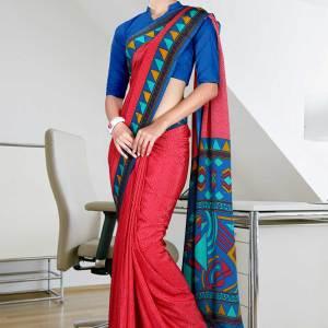 red-and-blue-italian-crepe-uniform-saree-71-15