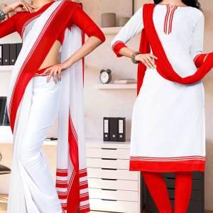 red-white-premium-georgette-mother-teresa-hospital-uniform-sarees-salwar-combo-for-aayah-bai-staff-1626-C