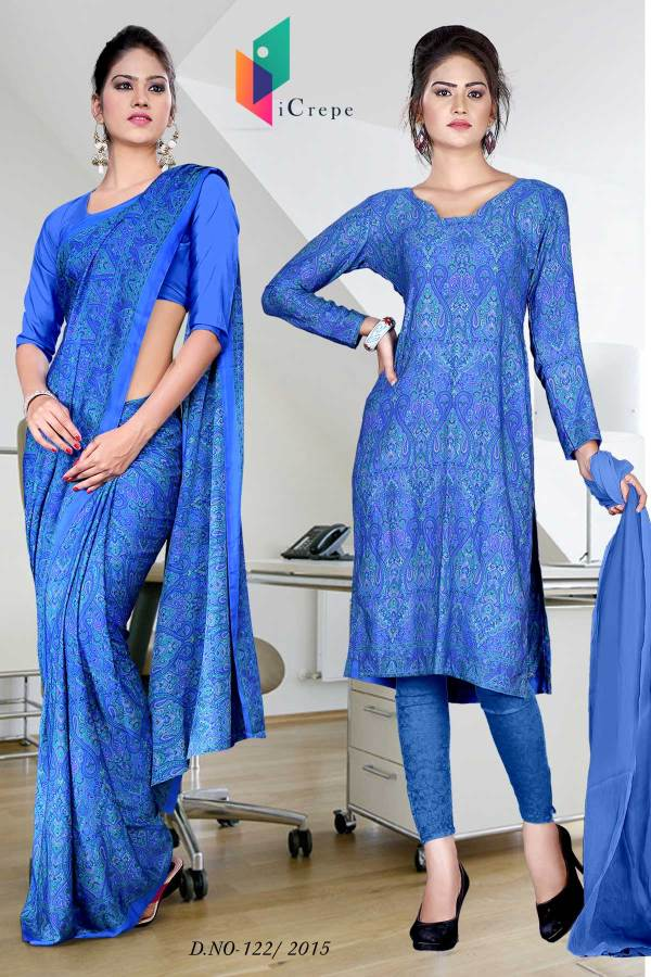 royal-blue-italian-crepe-uniform-saree-combo-122