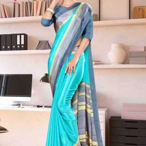 sea-green-gray-premium-italian-silk-crepe-saree-for-annual-function-uniform-sarees-1018-21