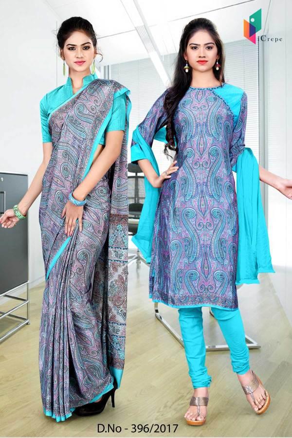sky-blue-purple-italian-crepe-uniform-saree-salwar-combo-396