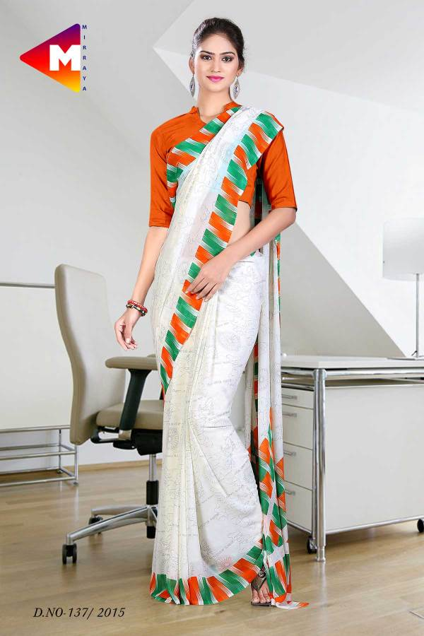 tiranga-tricolour-border-georgette-uniform-saree-for-patriotic-function-137