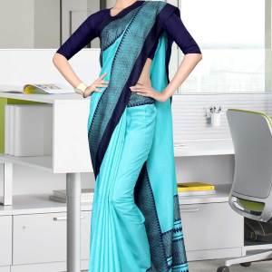 turquoise-and-navy-blue-tripura-cotton-institute-uniform-sarees-457-19
