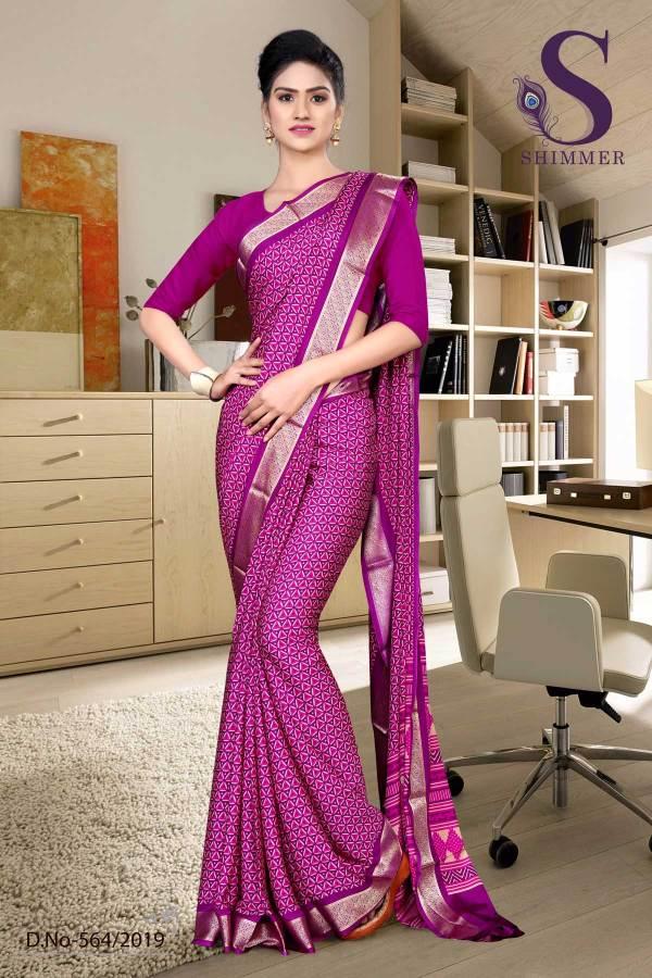 voilet-purple-silk-crepe-jaquard-border-institute-uniform-sarees-564