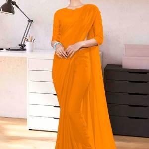 Mango-Plain-Corporate-Uniform-Sarees-1109