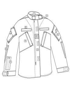 TRU-SPEC Army Combat Shirt 1950 Diagram