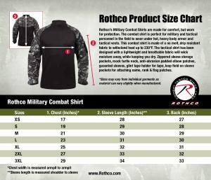 Rothco Combat Shirt-Size Chart-3