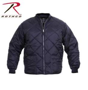 Rothco Diamond Nylon Quilted Flight Jacket - 7160-A - Navy Blue