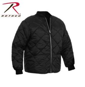 Rothco Diamond Nylon Quilted Flight Jacket - 7230-B - Black