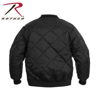 Rothco Diamond Nylon Quilted Flight Jacket - 7230-D - Black