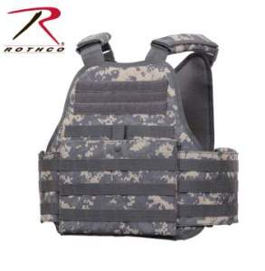 Rothco MOLLE Plate Carrier Vest - 8932-B - Digital Camo