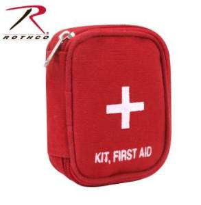 Rothco Military Zipper First Aid Kit - 8318-A1 - Red