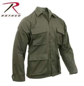 Rothco Poly-Cotton Twill Solid BDU Shirts - 7837-B - Olive Drab