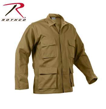 Rothco Poly-Cotton Twill Solid BDU Shirts - 8508-B1 - Coyote Brown