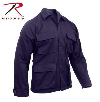 Rothco Poly-Cotton Twill Solid BDU Shirts - 8885-B - Navy Blue