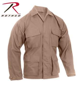 Rothco Rip-Stop BDU Shirt - Khaki - 5854-B