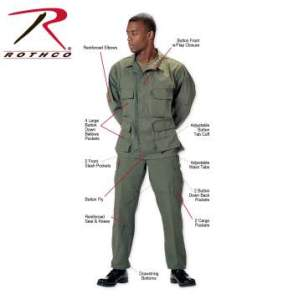 Rothco Tactical BDU Pants - 7838-7837-Z - Olive Drab
