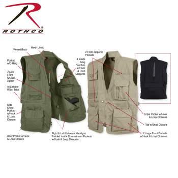Rothco Plainclothes Concealed Carry Vest - Khaki - 8567-Z