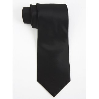 Executive Apparel Mens Solid Polyester Dobby Tie -1670 - Black