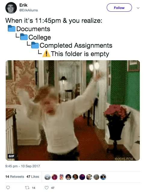 , 12 hysterical tweets that sum up writing essays at university