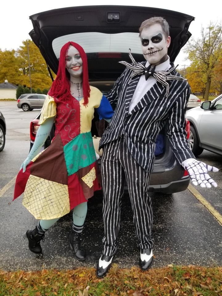 Jack and Sally wacky christmas costume