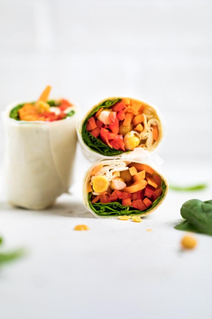 Chickpea Wraps veganuary recipes