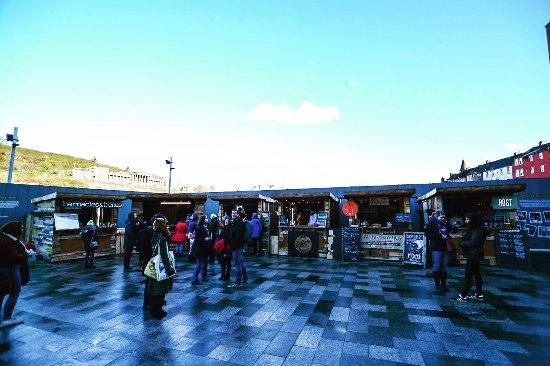The Food and Flea market cheap date nights edinburgh