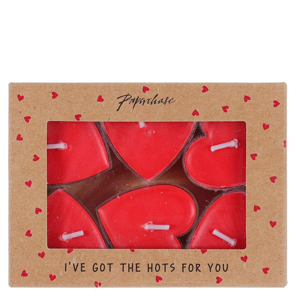 Heart Tealights Valentine's Day Gifts