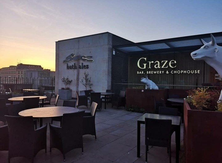 graze bath rooftop bar