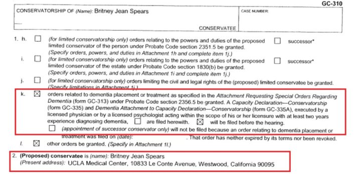 why is britney in a conservatorship