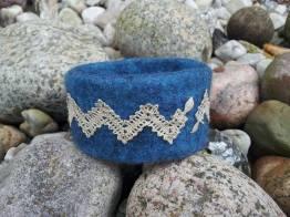 Armreifen kloeppeln blau