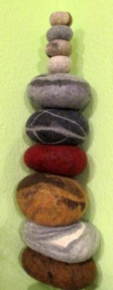 Filz-Steine