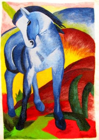 Blaues Pferd von Franz Marc