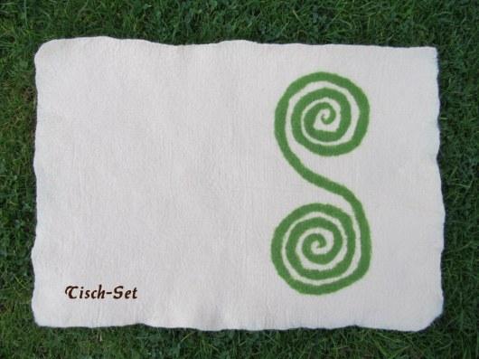 Tisch-Set weiß
