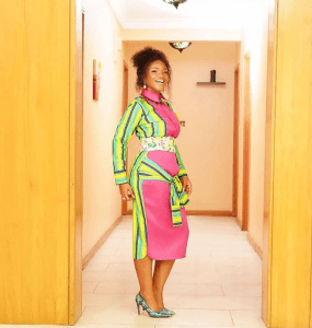 Ada Ehi Looks Chic In Patterned Gown (Photos)