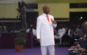 Bishop David Oyedepo Surprises Tope Alabi On Her 50th Birthday