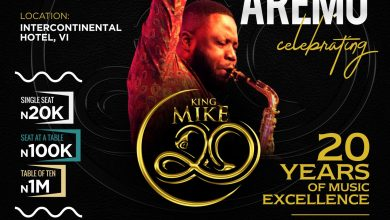 Mike Aremu Set To Celebrate 20 Years Of Musical Excellence With A Concert