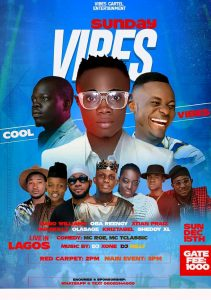 Dabo Williams, Oba Reengy, Ola Sage and Ova Skillz set to headline Sunday Vibes this December This December the table will be turning and culture will be countered as Dabo Williams, Oba Reengy, Ola Sage and Ova Skillz amongst other Christian Hip Hop artist will be headlining an event tagged Sunday Vibes