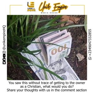 #WWYD: You Saw A Bunch Of Dollars Wrapped Without Evidence To Trace Its Owner, What Would You Do? (See Response)