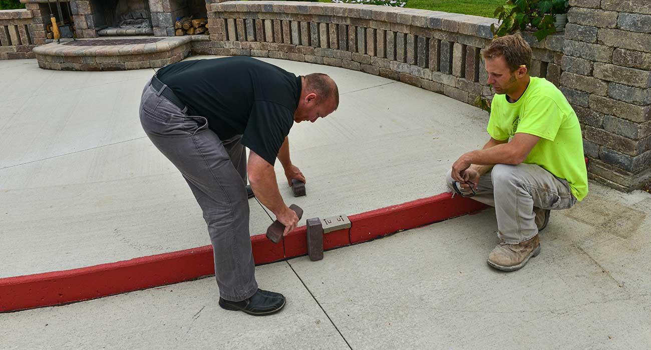installing pavers on concrete unilock