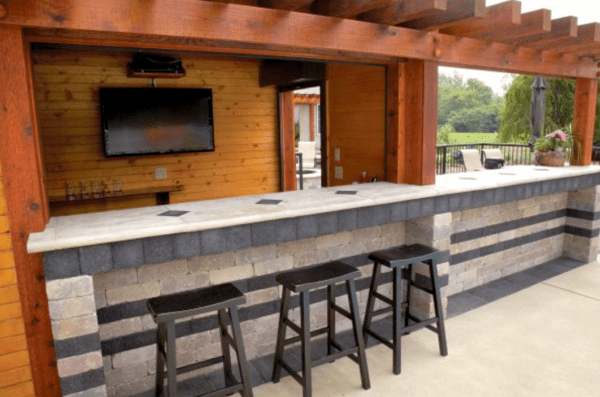 outdoor patio kitchen design 10 Outdoor Kitchen designs sure to Inspire | Unilock